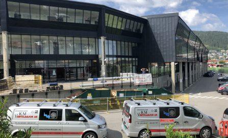 Prosjektering, levering og montering av balansert ventilasjon til nye klasserom - Brann Stadion - norsk toppidrettsgymnas (NTG)