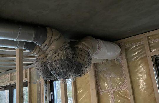 Kanalnett ved ventilasjonsaggregat