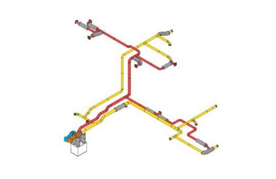 3D visning av ventilasjonsanlegg