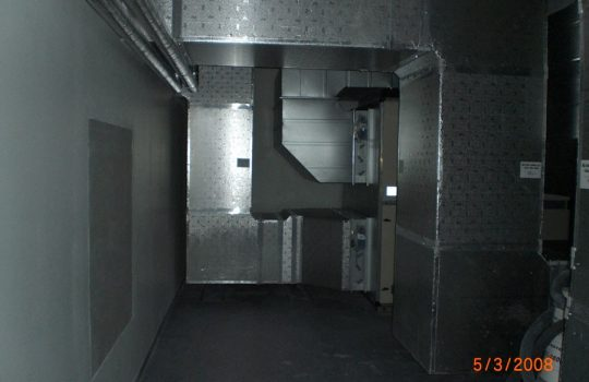 ISO duct inntakskanal montert teknisk rom